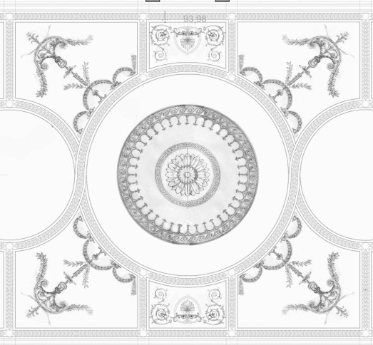adams style ornamental ceiling design