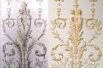 plasterwork - adams style wall panel